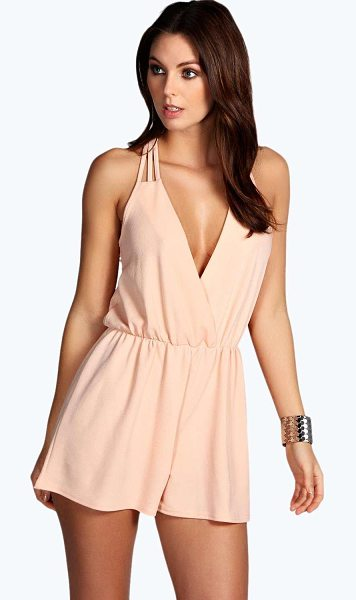 BOOHOO Alena Strappy Wrap Front Playsuit - Strappy playsuit with wrap frontThis slinky playsuit is...