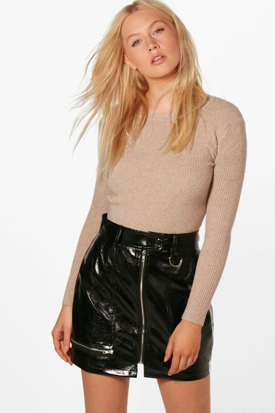 BOOHOO Alice Rib Detail Jumper - Nail new season knitwear in the jumpers and cardigans...