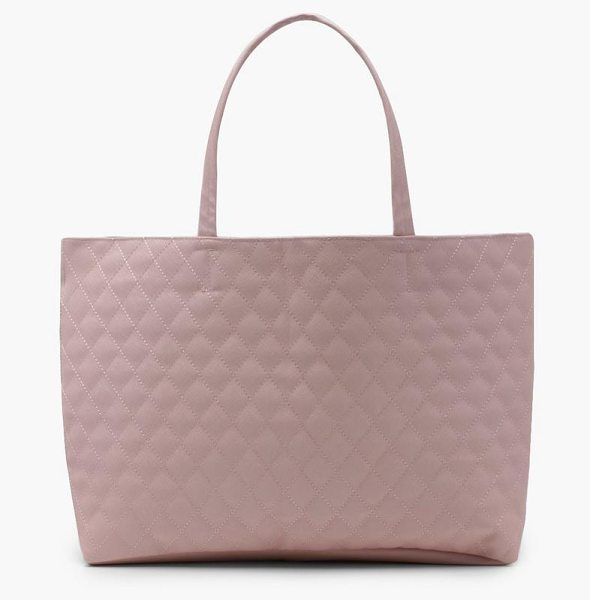 Boohoo Alicia Quilted Shopper Bag in blush - Add attitude with accessories for those fashion-forward...