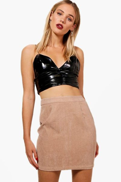 Boohoo Alison Basic Chunky Cord Mini Skirt in sand - Skirts are the statement separate in every wardrobe This...