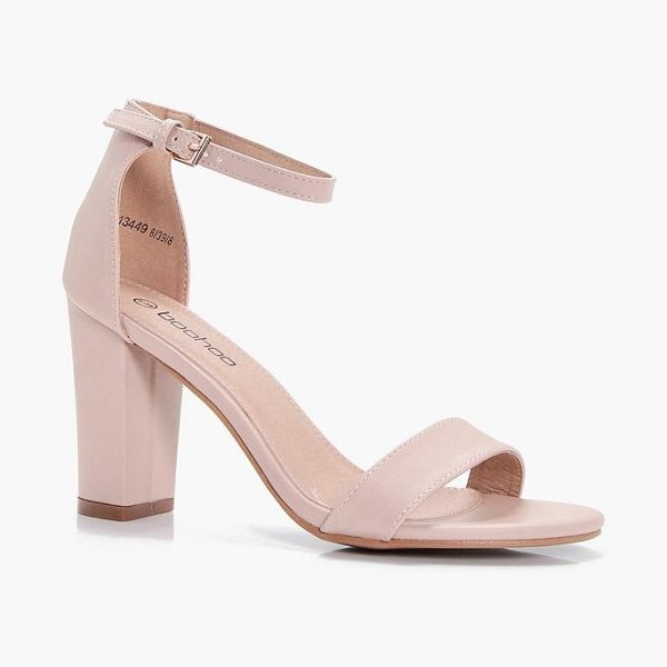 Boohoo Block Heel Sandals in nude