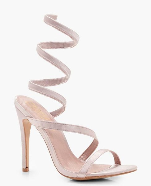 Boohoo Spiral Strap Sandals in nude