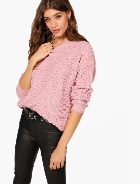 Boohoo Oversized Vintage Jumper in nude - Nail new season knitwear in the jumpers and cardigans...