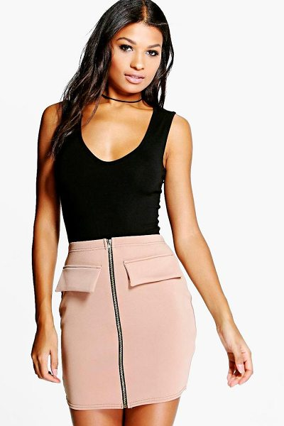 BOOHOO Arla Zip Front Scuba Mini Skirt - Skirts are the statement separate in every wardrobe This...