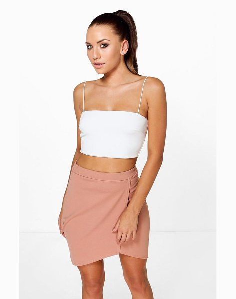 Boohoo Aura Asymetric Wrap Front Mini Skirt in blush - Skirts are the statement separate in every wardrobe This...