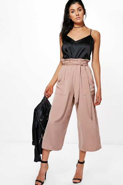 BOOHOO Paperbag Waist Pocket Side Culottes - Smoke out the competition in a pair of culottes. An...