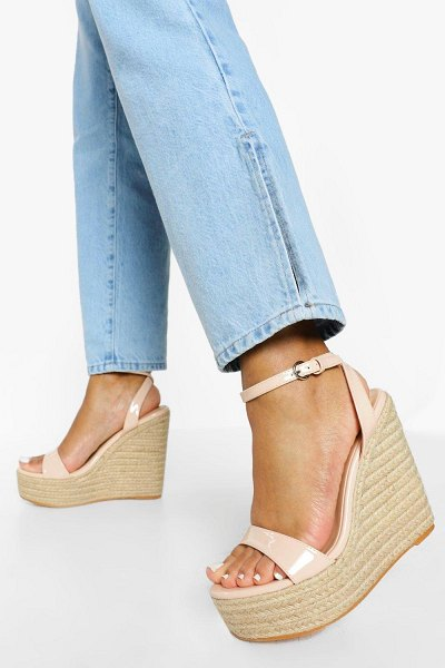 Boohoo Barely There High Wedge in nude