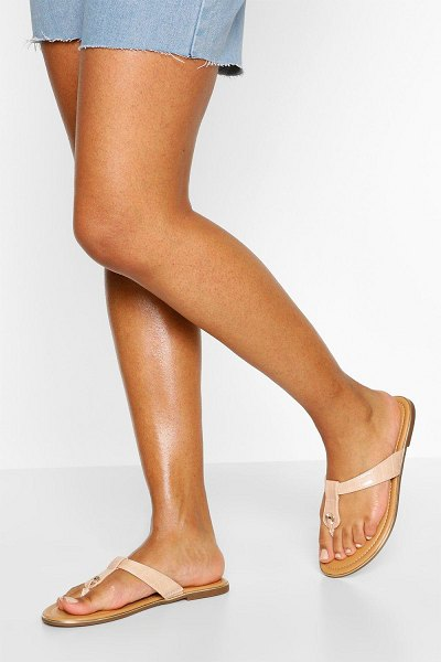 Boohoo Basic Thong Sandals in pink