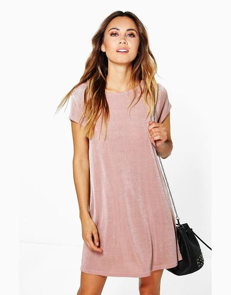 BOOHOO Becky Premium Slinky Shift Dress - Dresses are the most-wanted wardrobe item for...