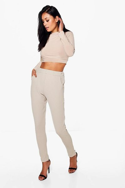 Boohoo Becky Roll Neck Top And Skinny Trouser Co-ord in tan - Co-ordinates are the quick way to quirky this seasonMake...