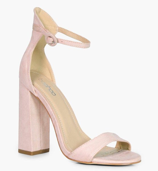 Boohoo Bella 2 Part Heel in nude - We'll make sure your shoes keep you one stylish step...