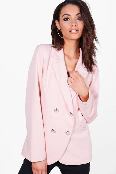 BOOHOO Bella Button Jacket - Wrap up in the latest coats and jackets and get...