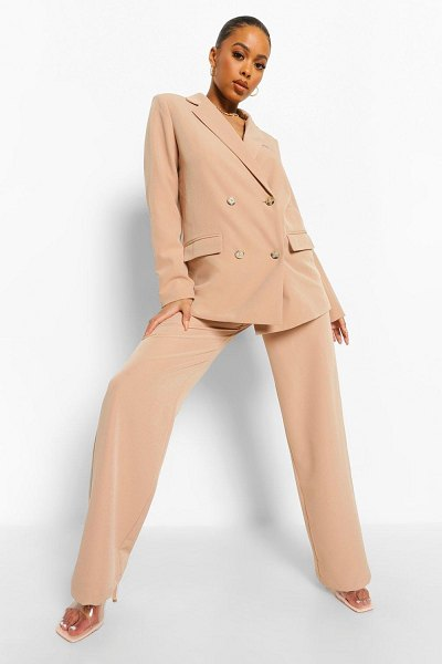 Boohoo Belted Relaxed Fit Pants in taupe