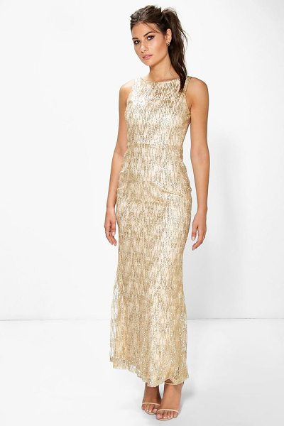 BOOHOO Boutique Cher All Over Embellished Maxi Dress - Dresses are the most-wanted wardrobe item for...