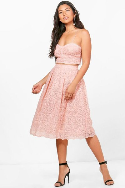Boohoo Boutique Jemma Embroidered Skirt Co-ord in blush - Co-ordinates are the quick way to quirky this seasonMake...