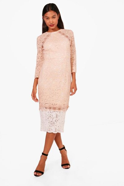 BOOHOO Boutique Contrast Lace Midi Dress - Dresses are the most-wanted wardrobe item for...