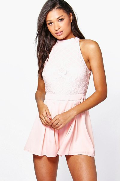BOOHOO Boutique Mary Statement Back Playsuit - Perfect for day or play, a playsuit will solve...