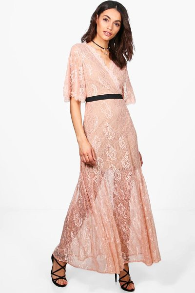 BOOHOO Boutique Lace Angel Sleeve Maxi Dress - Dresses are the most-wanted wardrobe item for...