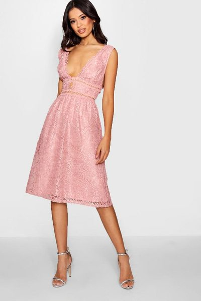 BOOHOO Boutique Panelled Skater Dress | Nudevotion