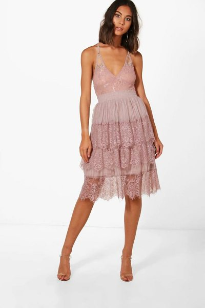 BOOHOO Boutique Eyelash Lace Layered Tulle Skirt - Skirts are the statement separate in every wardrobe This...