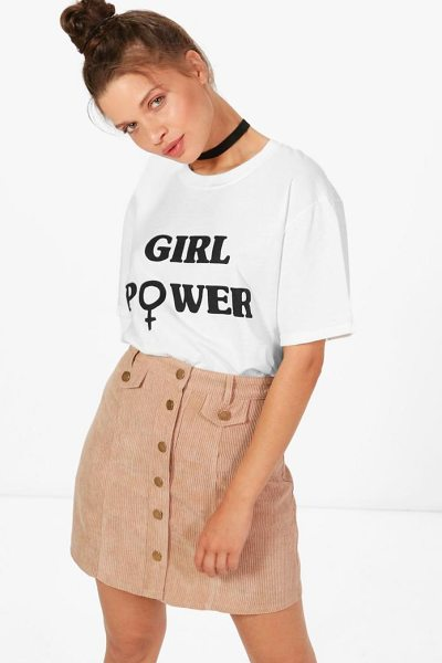 Boohoo Button Front Chunky Cord Mini Skirt in rose - Skirts are the statement separate in every wardrobe This...