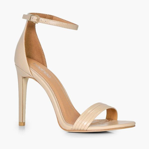 Boohoo Camilla Band Detail Two Part Heel in nude - We'll make sure your shoes keep you one stylish step...