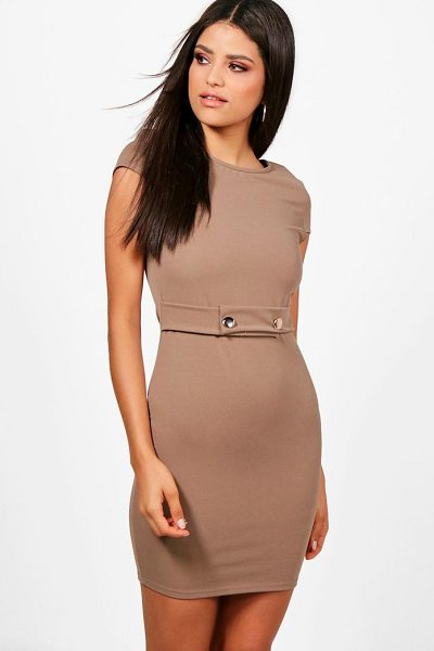 Boohoo Cap Sleeve Dress in mocha - Dresses are the most-wanted wardrobe item for...