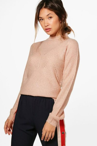 BOOHOO Caroline Turtle Neck Ribbed Jumper - Nail new season knitwear in the jumpers and cardigans...