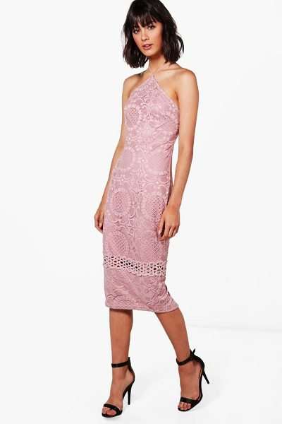 BOOHOO Cassie All Over Lace Strappy Midi Dress - Dresses are the most-wanted wardrobe item for...