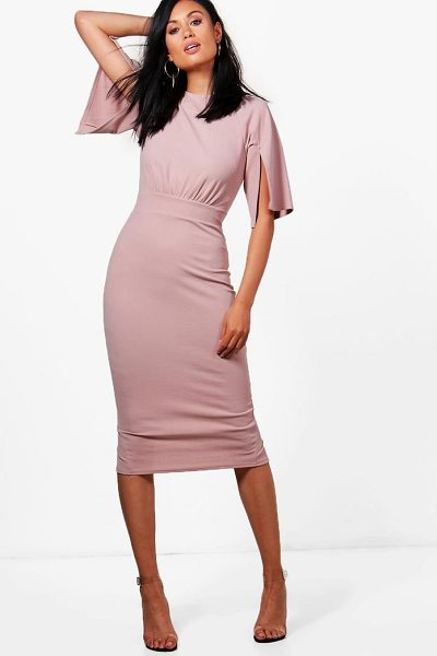 BOOHOO Split Sleeve Detail Wiggle Midi Dress - Spin your way through cocktail hour in our selection of...