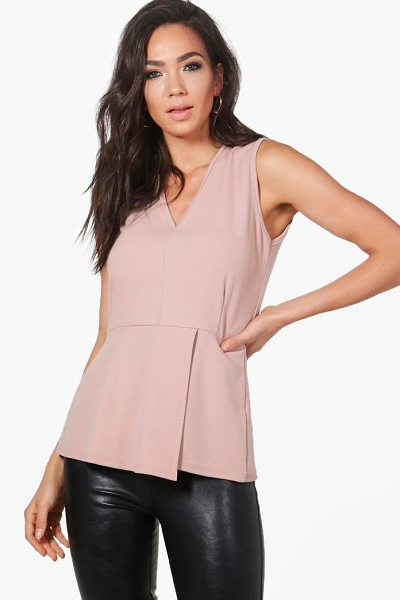 Boohoo Charlotte Fitted Peplum Top in mocha - Steal the style top spot in a statement separate from...