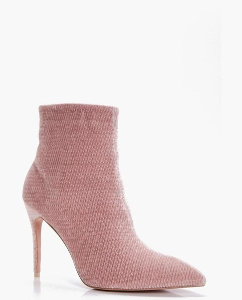 BOOHOO Charlotte Pointed Mid Heel Ankle Boots - We'll make sure your shoes keep you one stylish step...