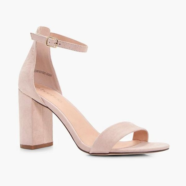 Boohoo Claire Block Heel 2 Part Heel in blush - We'll make sure your shoes keep you one stylish step...
