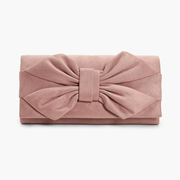 Boohoo Daisy Bow Clutch in nude - Add attitude with accessories for those fashion-forward...