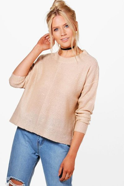BOOHOO Daisy Seam Detail Boxy Jumper - Nail new season knitwear in the jumpers and cardigans...