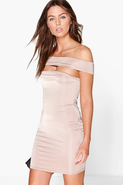 BOOHOO Demi Off The Shoulder Strappy Dress - Dresses are the most-wanted wardrobe item for...