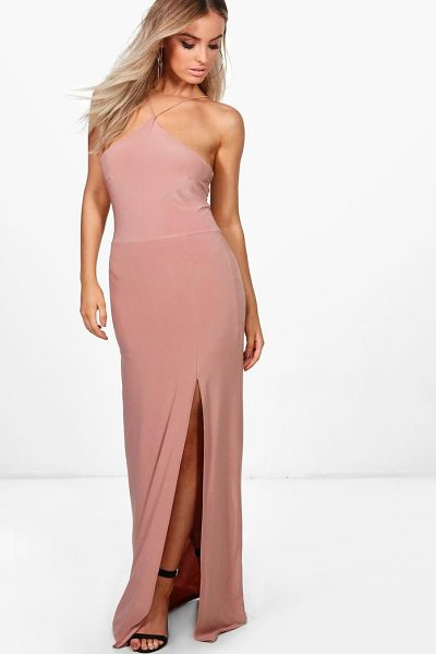 Boohoo Elise Strappy Slinky Maxi Dress in rose - Dresses are the most-wanted wardrobe item for...