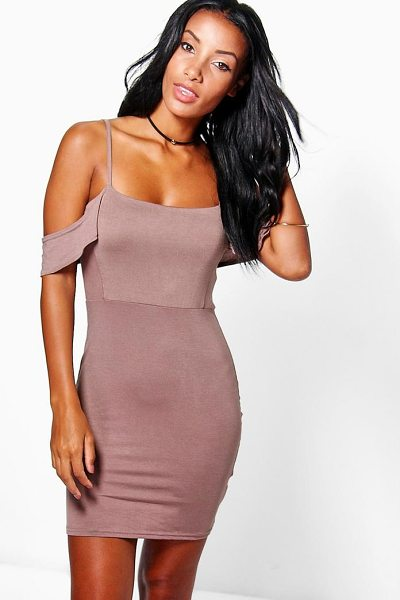 BOOHOO Eliza Strappy Cold Shoulder Mini Dress - Pared back day dresses are the perfect base for layering...