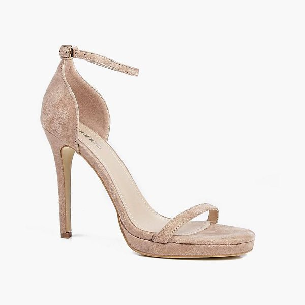 Boohoo Elizabeth Single Platform Two Part Heels in stone