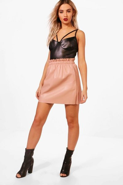 Boohoo Elle PU Pocket Detail Mini Skirt in blush - Skirts are the statement separate in every wardrobe This...