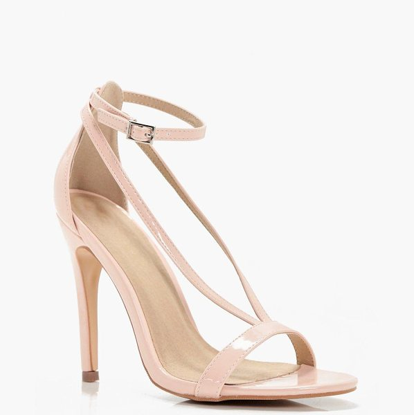 Boohoo Eloise Cross Strap Skinny Heel in nude - We'll make sure your shoes keep you one stylish step...
