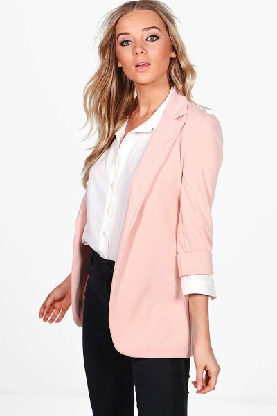 BOOHOO Eloise Tailored Ponte Blazer - Add some classic tailoring to your wardrobe for...