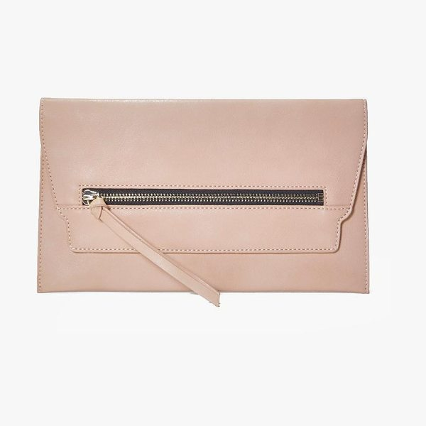 Boohoo Emilia Zip Front Clutch Bag in nude - A bag will make sure you have all your must-haves to...