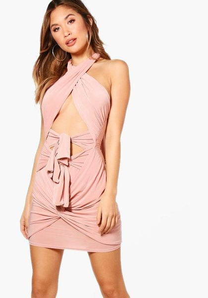 Boohoo Emilie Multi Way Mini Dress in blush - Dresses are the most-wanted wardrobe item for...