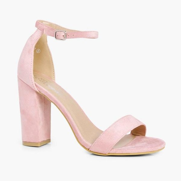 Boohoo 2 Part Block Heels in pink