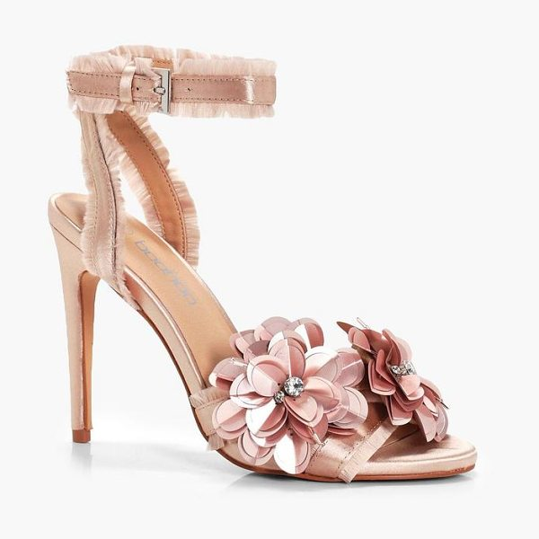 BOOHOO Embellished Satin 2 Part Heels - We'll make sure your shoes keep you one stylish step...