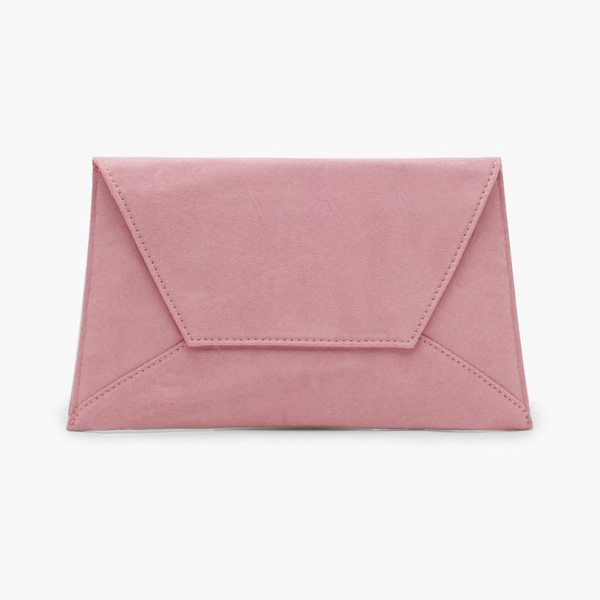 BOOHOO Erica Suedette Envelope Clutch - Add attitude with accessories for those fashion-forward...
