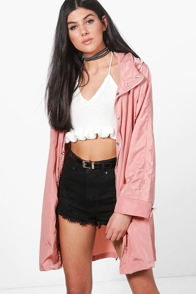 BOOHOO Erin Zip Out Hood Rain Coat - Wrap up in the latest coats and jackets and get...