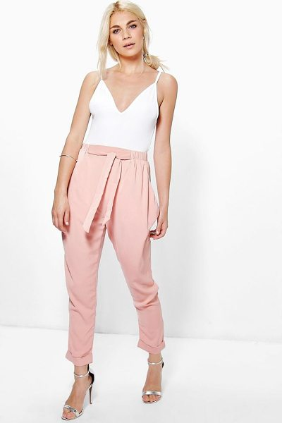BOOHOO Drape Side Woven Tailored Joggers - Trousers are a more sophisticated alternative to...