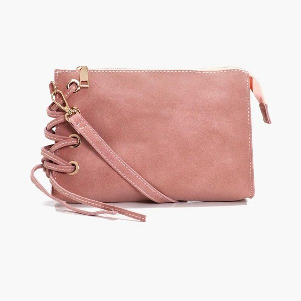 Boohoo Evie Corset Lace Up Cross Body in pink - Time to bag this season's hottest accessories. So why...